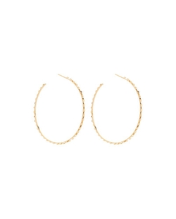 Large Glam Sunrise Hoop Earrings by Lana in Scream Queens