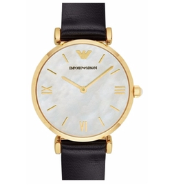 Leather Strap Watch by Emporio Armani in The Girl on the Train