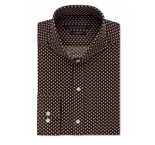 Diamond-Pattern Dress Shirt by Sean John in Office Christmas Party