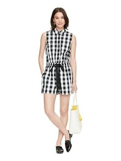 Gingham Romper by Kate Spade New York in New Girl