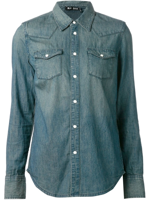 Patch Pocket Denim Shirt by Blk Dnm in Sicario