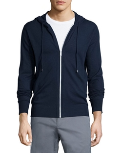 Airtex Full-Zip Perforated Hoodie by Michael Kors in Bleed for This