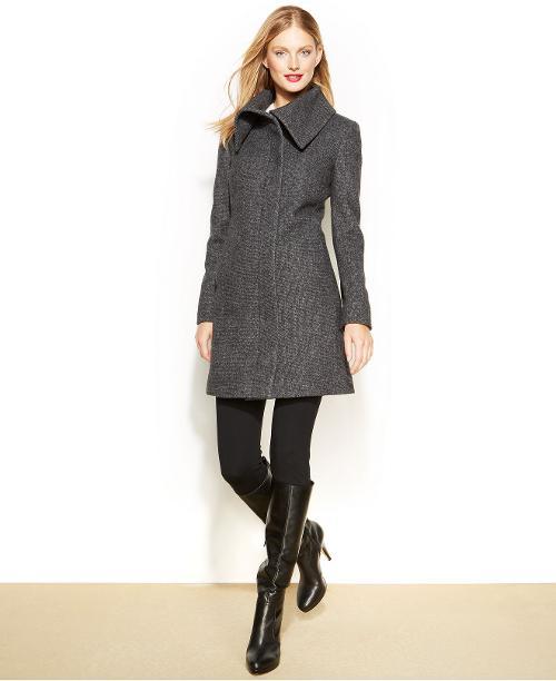 Tweed Walker Coat by Jones New York in New Year's Eve
