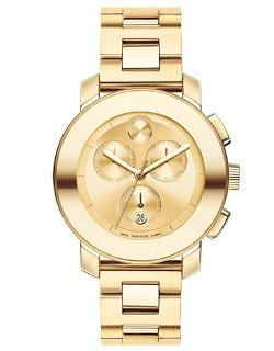 Bold Goldtone Stainless Steel Chronograph Watch by Movado Bold in Savages