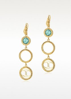 Just Queen Golden Earrings by Just Cavalli in Black or White