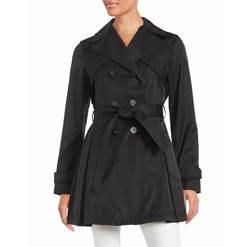Double-Breasted Trench Coat by Laundry by Shelli Segal in The Fundamentals of Caring