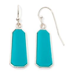 Aqua Bead Silver-Tone Drop Earrings by Liz Claiborne in Scandal