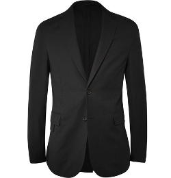 Black Textured Wool And Cotton-Blend Blazer by Balenciaga in The Gift