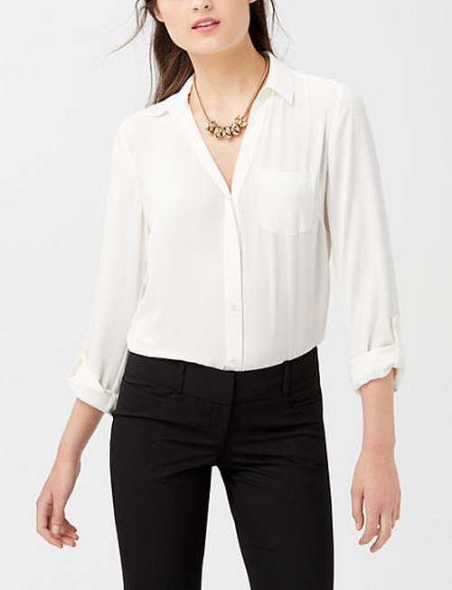 The Ashton Blouse by The Limited in Chi-Raq