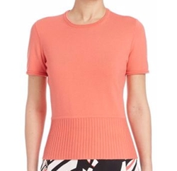 Faly Rib-Knit Top by Boss in Rosewood