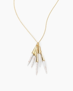 Capped Spikes Necklace by White House Black Market in American Housewife