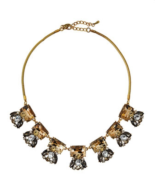 Crystal Cluster Bib Necklace by Greenbeads by Emily & Ashley in Pretty Little Liars - Season 6 Episode 4