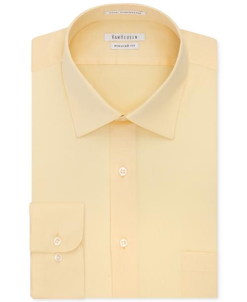 Solid Herringbone Dress Shirt by Van Heusen in Masterminds