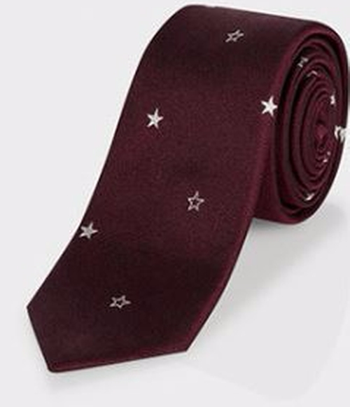 'Star' Silk Tie by Paul Smith  in Scream Queens