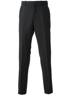 Straight Leg Trousers by Alexander McQueen in Black or White