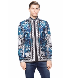 Silk Floral Barocco Shirt by Versace in Empire