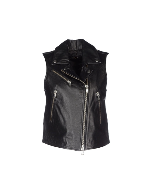 Zip Leather Vest by Twin-Set Simona Barbieri in The Good Wife - Season 7 Episode 2