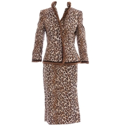 Silk Leopard Skirt Suit by Alexander McQueen in The Fate of the Furious