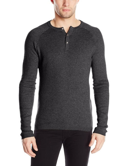 Raglan Long-Sleeve Henley Shirt by Vince Camuto in Fantastic Four