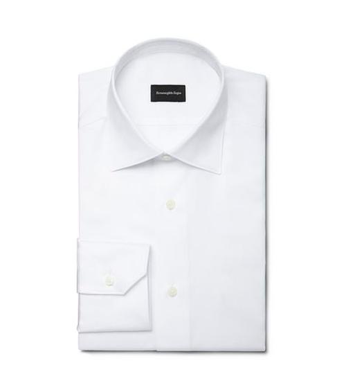 White Point Collar Shirt by Ermenegildo Zegna in Suits - Season 5 Episode 4