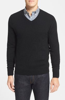 Cashmere V-Neck Sweater by Nordstrom in That Awkward Moment