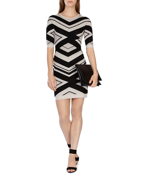 Chevron Stripe Knit Dress by Karen Millen in The Good Wife - Season 7 Episode 9