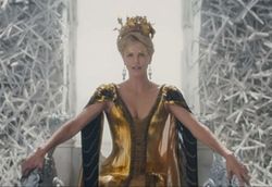 Custom Made 'Ravenna' Golden Gown by Colleen Atwood (Costume Designer) in The Huntsman: Winter's War