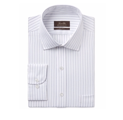 Men's Classic-Fit White Striped Dress Shirt by Tasso Elba in Kong: Skull Island
