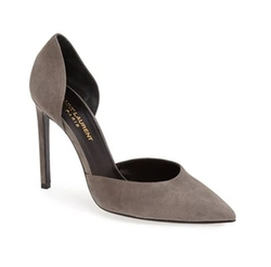 D'Orsay Suede Pumps by Saint Laurent in Empire