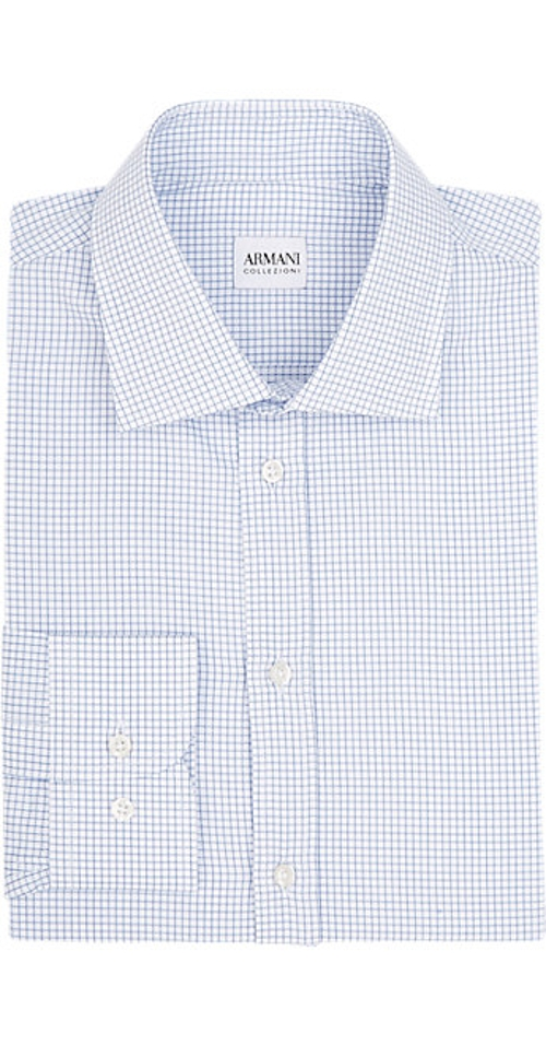 Check Dress Shirt by Armani Collezioni in Ant-Man