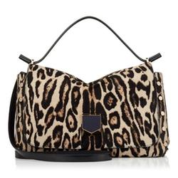 Lockett/M Snow Leopard Print Pony Handbag by Jimmy Choo in Empire