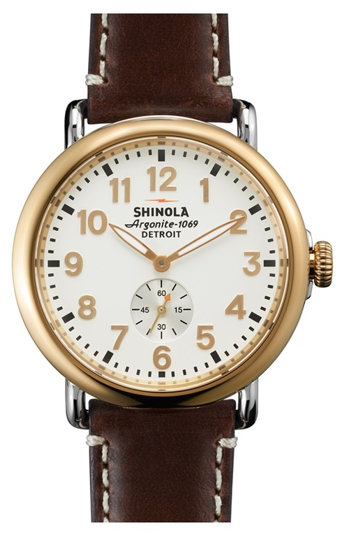 The Runwell Leather Watch by Shinola in The Flash - Season 2 Episode 5