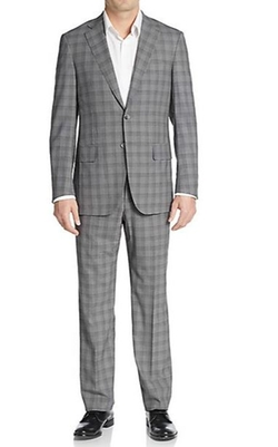 Plaid Wool Suit by Isaia in The Departed
