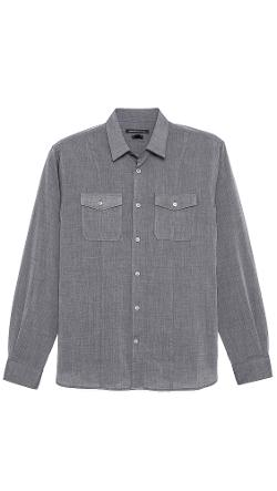 Slim Fit End on End Shirt by John Varvatos Star USA in Warm Bodies