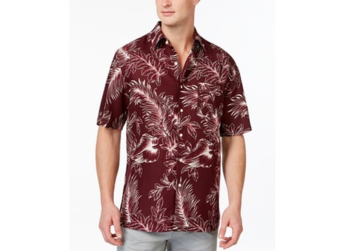 Leaf Print Short-Sleeve Shirt by Tasso Elba in Neighbors 2: Sorority Rising