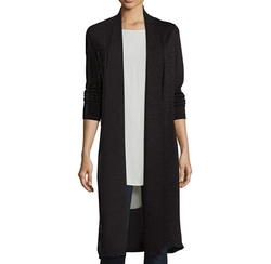 Washable Wool Kimono Duster Cardigan by Eileen Fisher in Designated Survivor