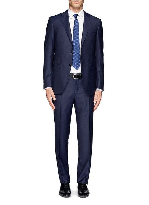 Two-Button Wool Suit by Canali in Suits - Season 5 Episode 9
