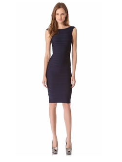 Ardell Boat Neck Dress by Herve Leger in Arrow