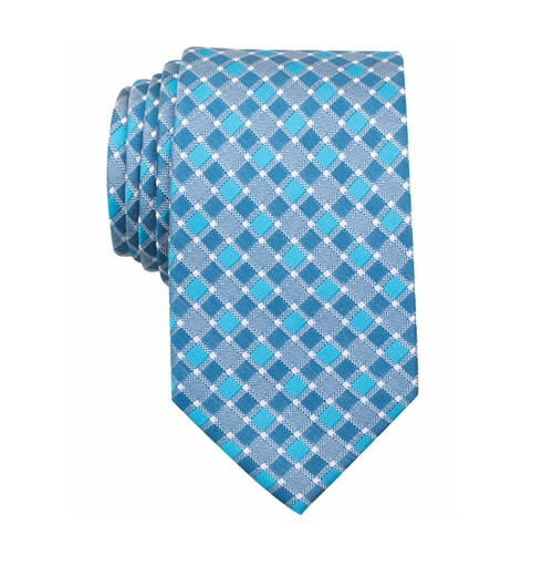 Men's Hall Grid Classic Tie by Perry Ellis in The Bachelorette - Season 12 Episode 7