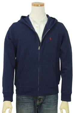 Classic Fleece Hoodie Jacket by Polo Ralph Lauren in Boyhood