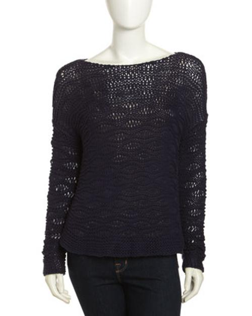 Pullover Open Knit Sweater by Paper Denim & Cloth in Laggies