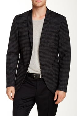 Houndstooth Two Button Peak Lapel Suit Jacket by Tiger of Sweden in Empire