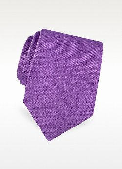 Gold Line Solid Woven Silk Tie by Forzieri in Top Five