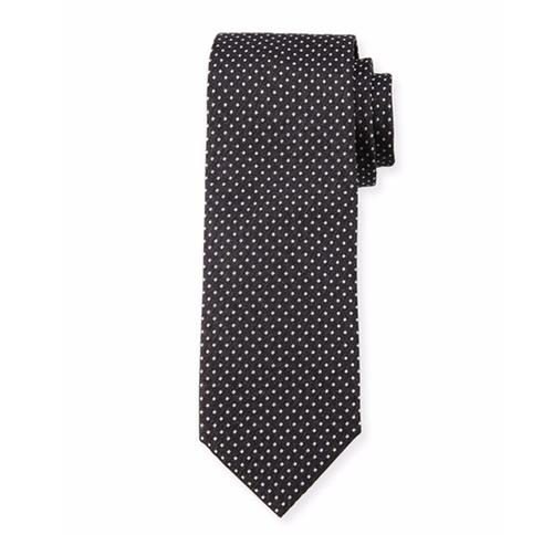 Pindot Silk Tie by Boss Hugo Boss in Suits - Season 6 Episode 10