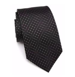 Square Solid Silk Tie by Armani Collezioni in Suits