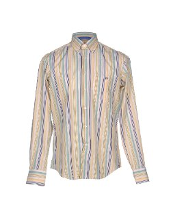 Plain Weave Stripe Button Down Shirt by Harry & Sons in Entourage