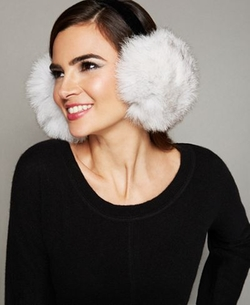 Fox Fur Earmuffs by The Fur Vault in Scream Queens