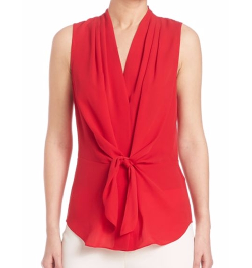 Julia Silk Tie-Front Blouse by Kobi Halperin in Mistresses