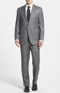 Classic Fit Stripe Suit by David Donahue in The Best of Me