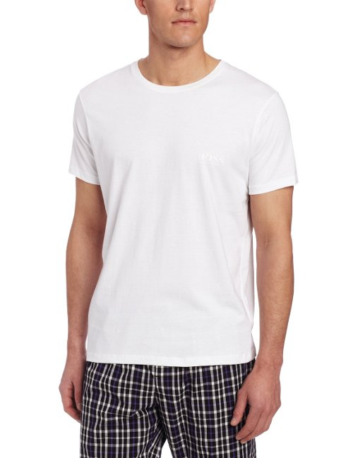 Men's Cotton Crew Neck Undershirt by Hugo Boss in Hall Pass